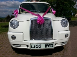 White London Taxi for weddings in Cardiff